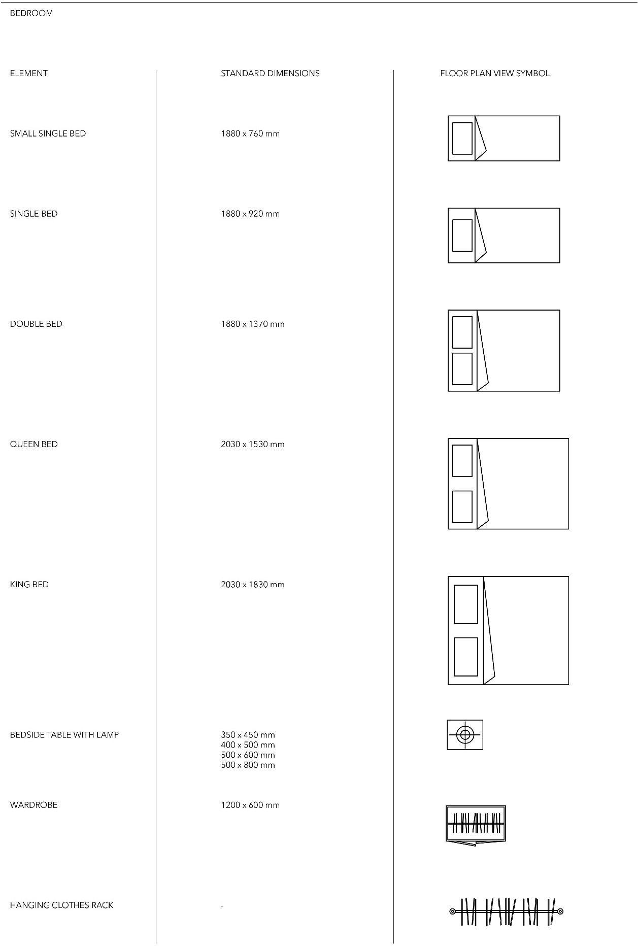 Floor Plan View Furniture Symbols