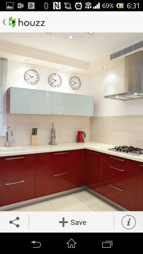 Houzz cocina roja Cocinas toque ROJO para inspirarse