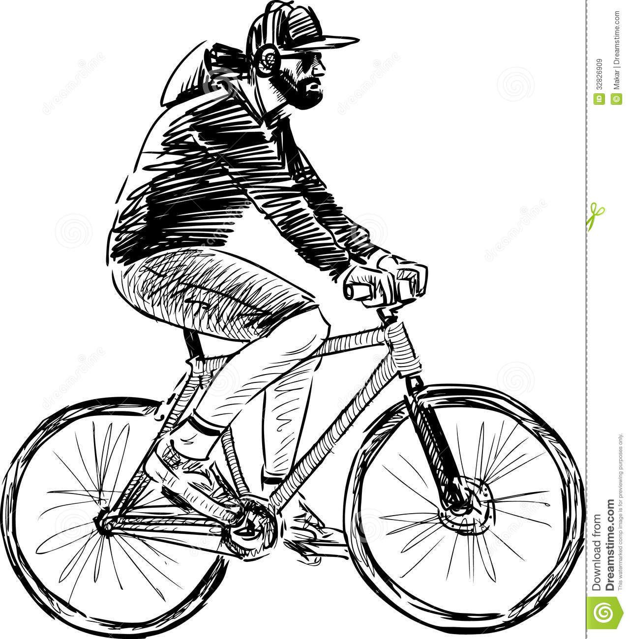 Person on bike drawing man riding a bicycle royalty free stock person on bike drawing man riding a bicycle royalty free stock images image 32826909 baditri Image collections