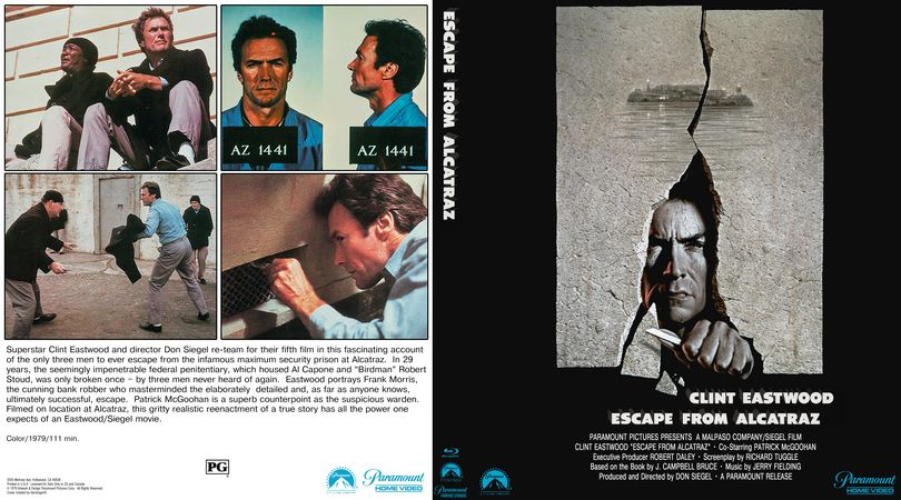 Escape From Alacatraz Blu Ray Custom Cover Cover Custom