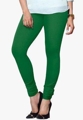 5f990f02f9a5 Light Green Color Fancy Plain Cotton Leggings buy Online in India with  Kshatriya Fashion