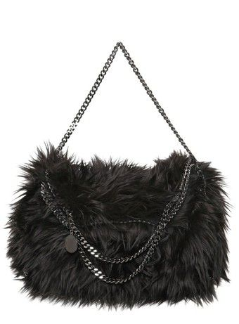 c7296627bb96 Stella MCCARTNEY Falabella Three Chain Faux Fur Bag dressmesweetiedarling
