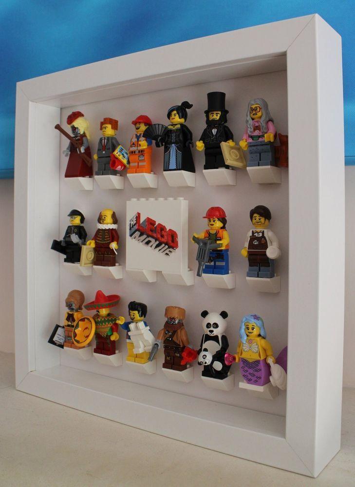 Stunning Lego Movie Minifig Minifigure Series 12 Custom Display Case Frame