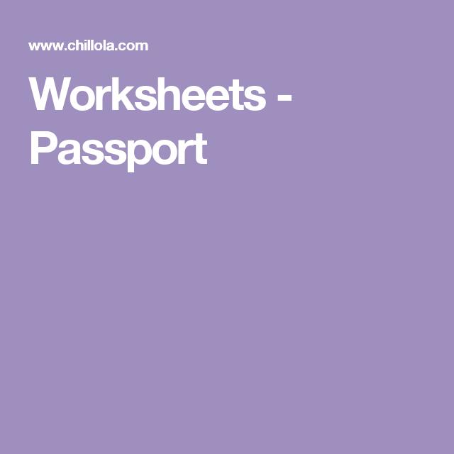 Worksheets - Passport   Australia   Pinterest