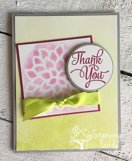 How to make a nice thank you card video card making techniques free card making videos stampin up cards handmade greeting cards paper m4hsunfo