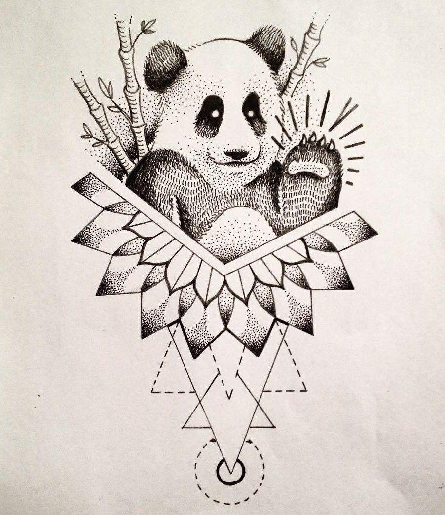 panda mandala tattoo design panda