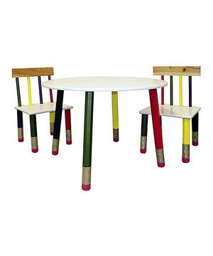 Attractive Green U0026 Yellow Pencil Table U0026 Chair Set (from Ore International, Inc. Via  Zulily)