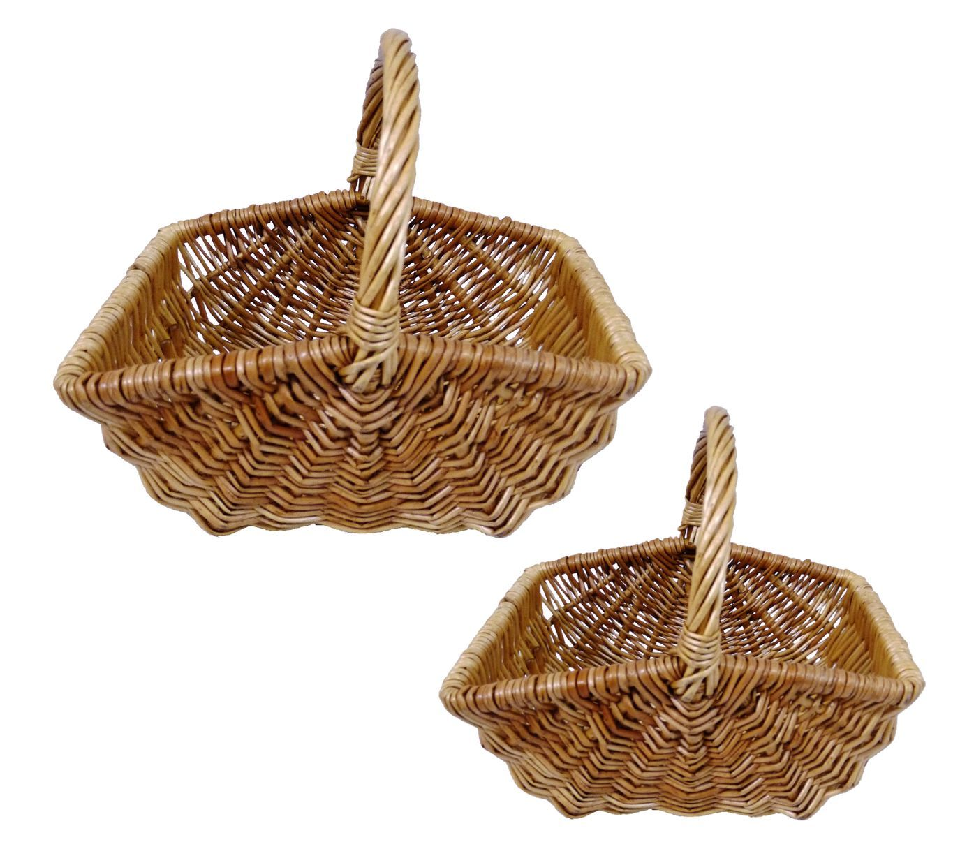 Flower girl baskets wicker : Wedding confetti petal flower girl rectangular wicker