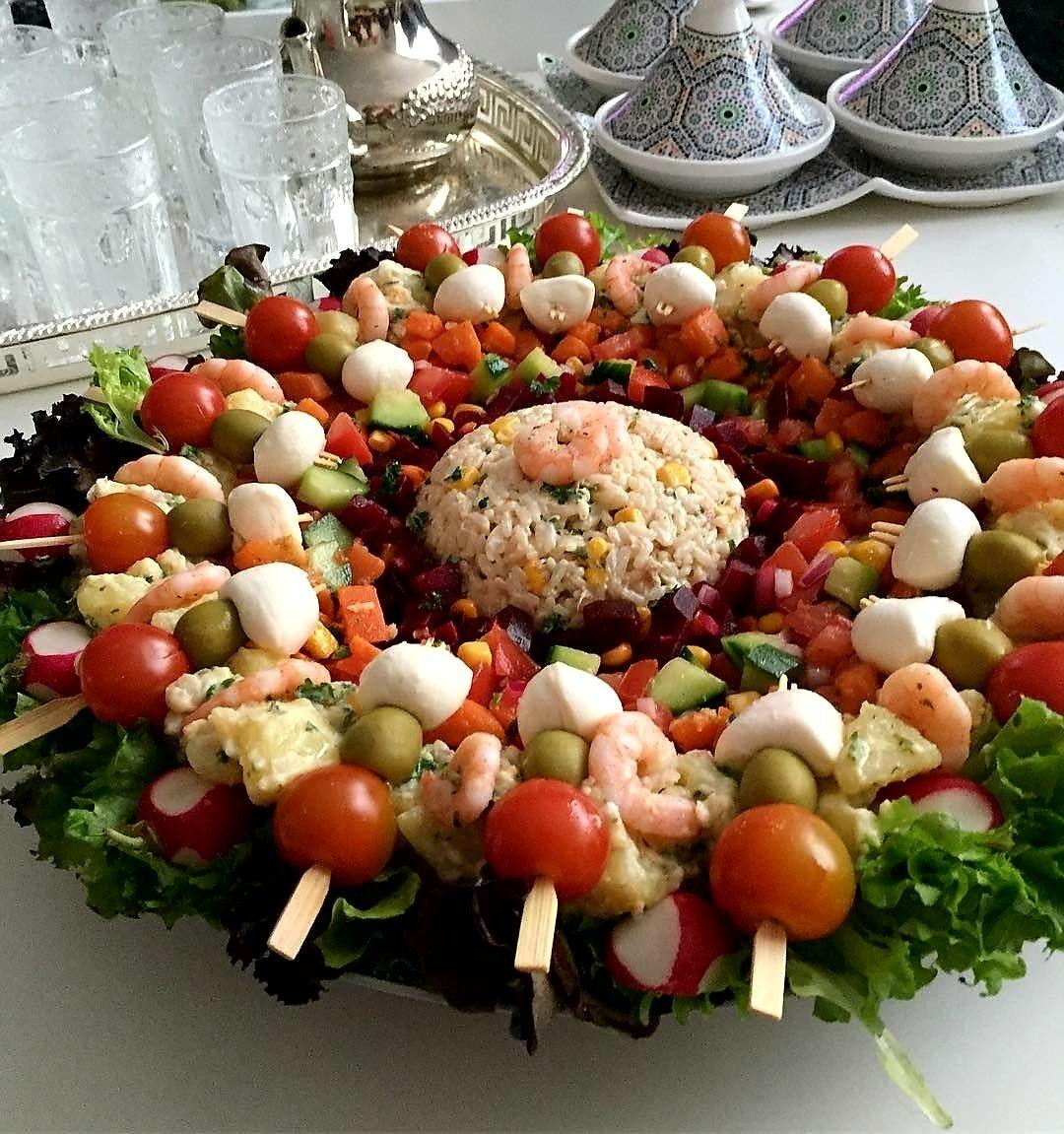 Salade royale   Salade marocaine, Cuisine marocaine, Repas marocain