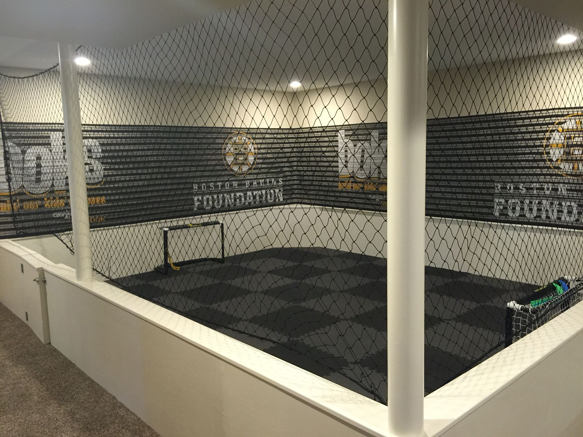 Man Cave Hockey Room : Knee hockey and futsal in our basement completed diy projects