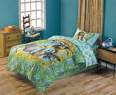 safari themed toddler bed madagascar jungle safari twin kids bedding set