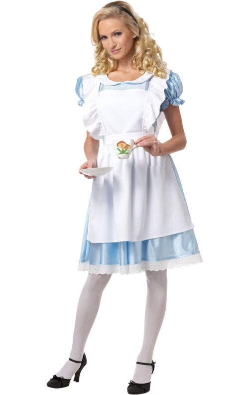 Fall Down The Rabbit Hole With This Lovely Alice In Wonderland Fancy Dress  Costume: Https://www.simplyfancydress.co.uk/alice In Wonderland Costume ~24729/