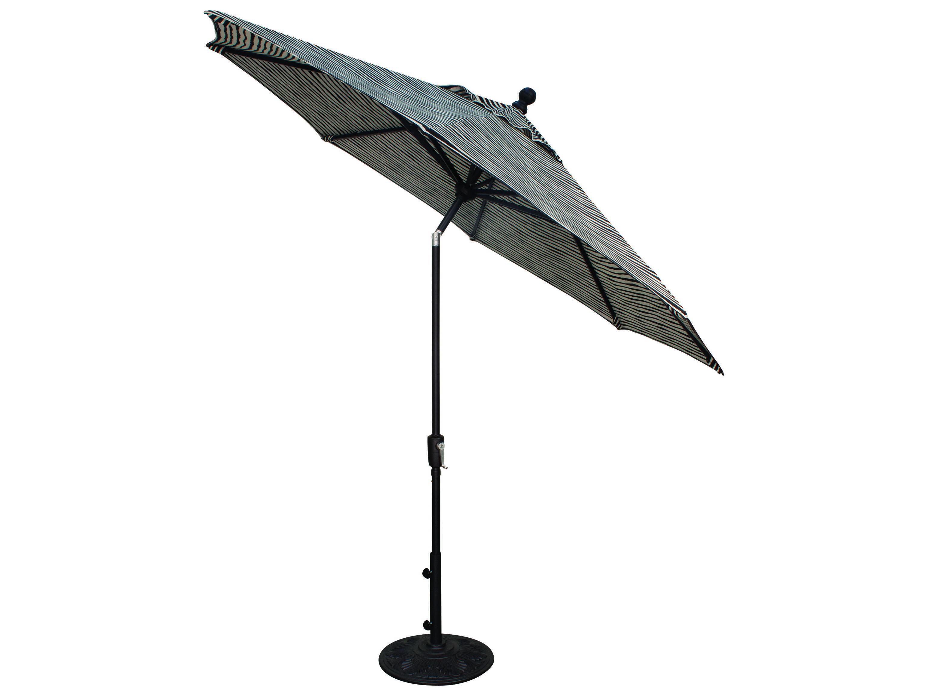 Treasure Garden Quick Ship Market Aluminum 9u0027 Foot Wide Crank Lift Push  Button Tilt Umbrella