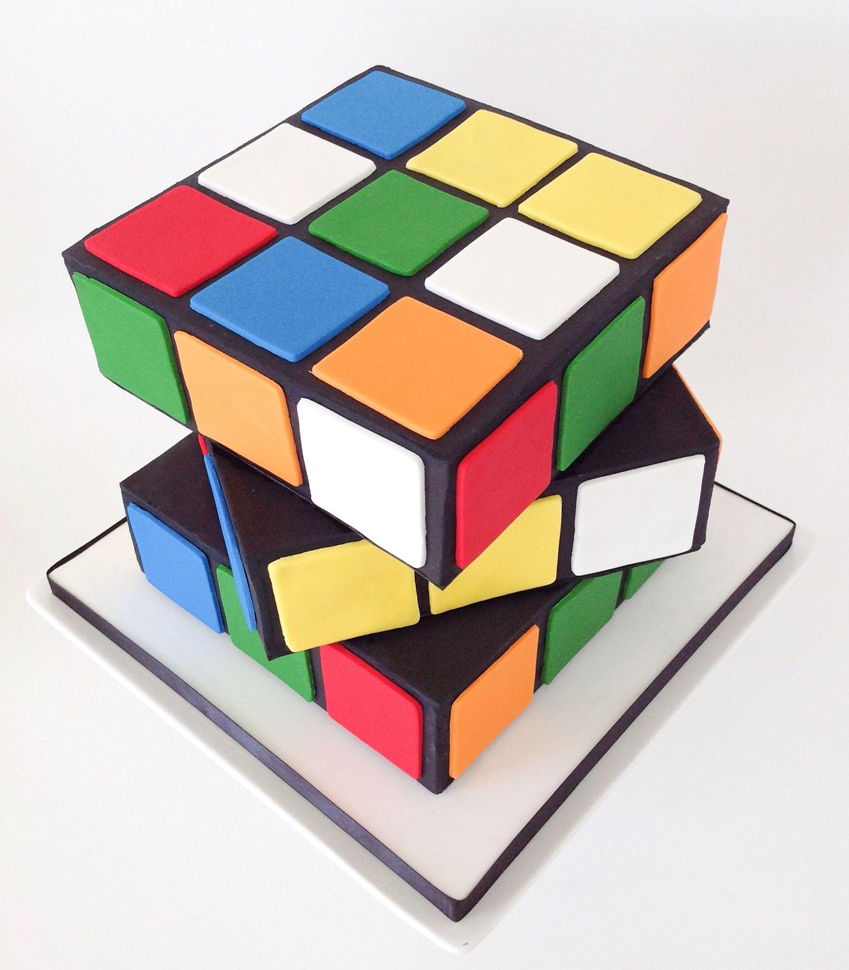 Rubix Cube birthday cake Strawberry Sky Cakes Pinterest