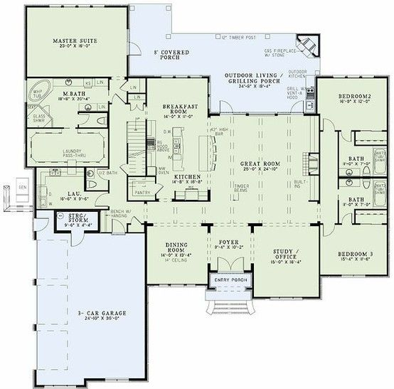 Master Closet With Pass Thru To Laundry Room House Plans And More House Floor Plans Dream House Plans