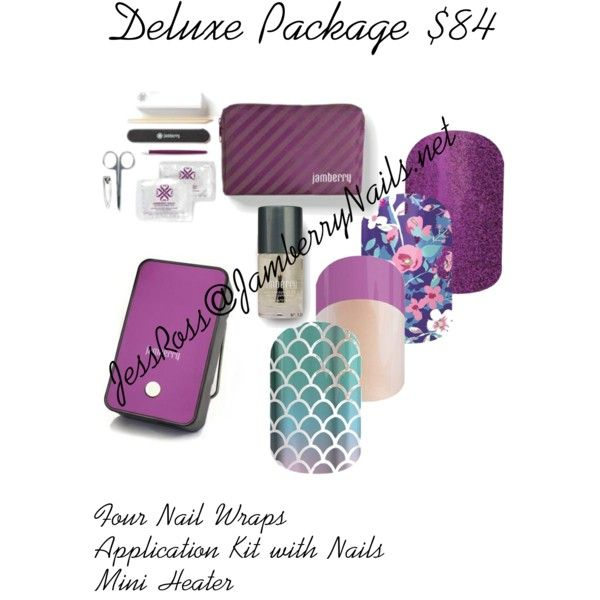 Deluxe Package $84 Four Nail Wraps Application Kit w/ Cuticle Oil ...