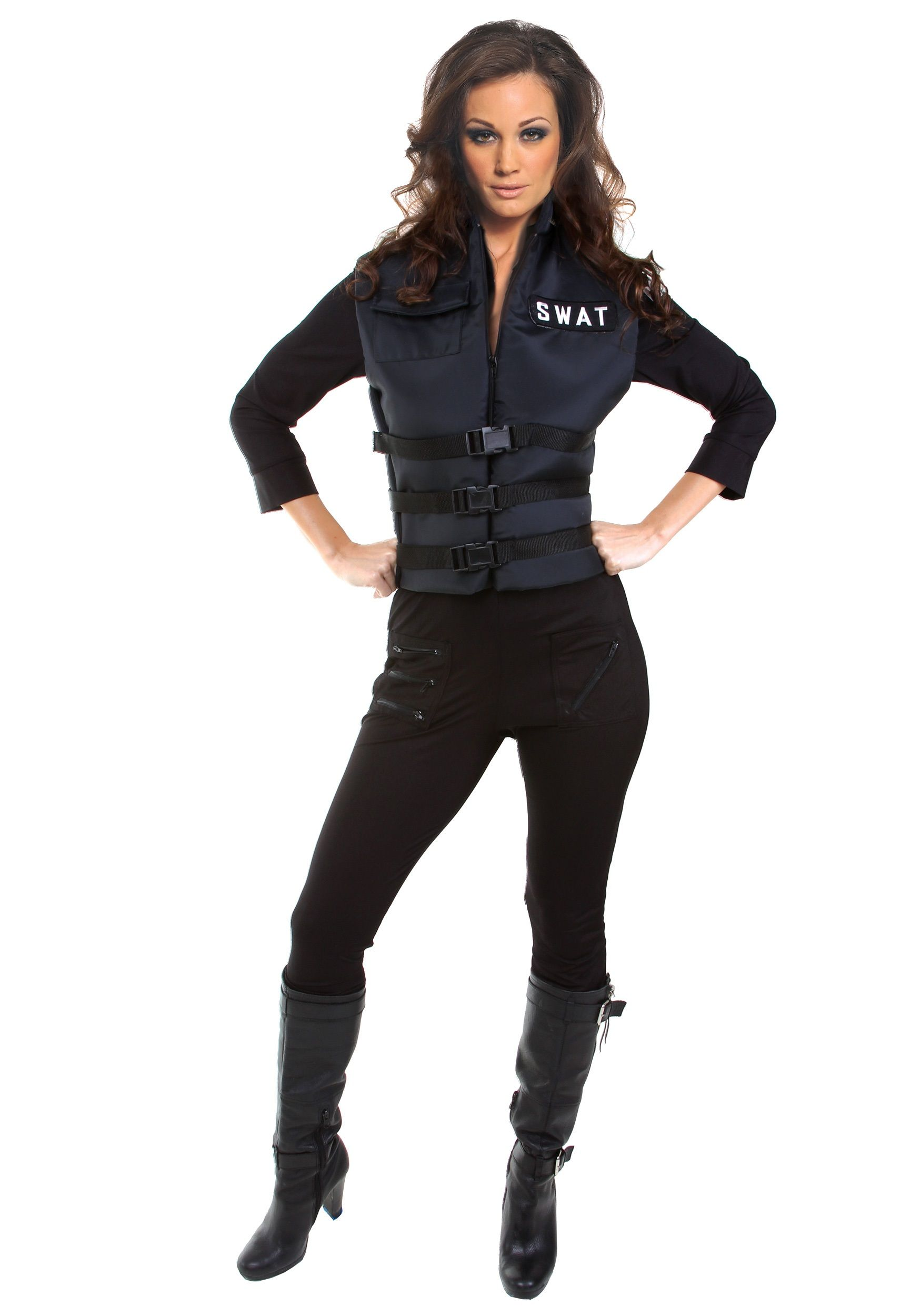 Beautiful Free Shipping Adult Woman Halloween Costumes Swat Jumpsuit Catsuit For Secret Service Women Sexy Lingerie Policewomen Back To Search Resultshome