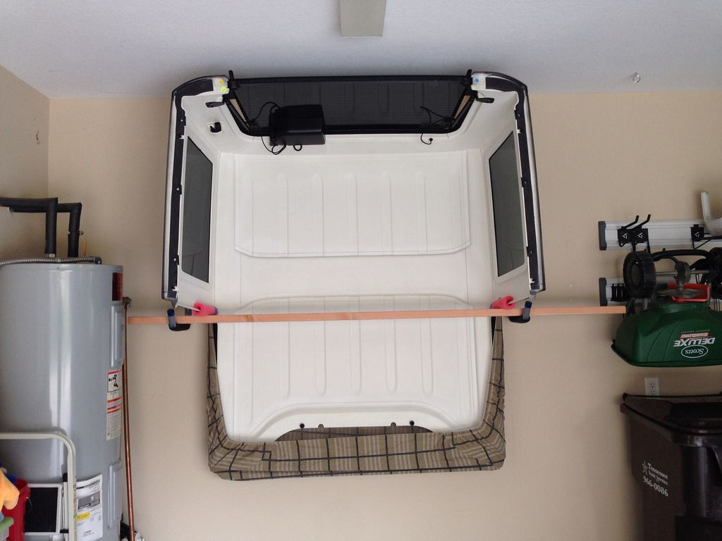 Hard Top Storage Ideas Page 2 Jeep Wrangler Forum Jeep Hardtop Storage Jeep Tops Jeep Garage