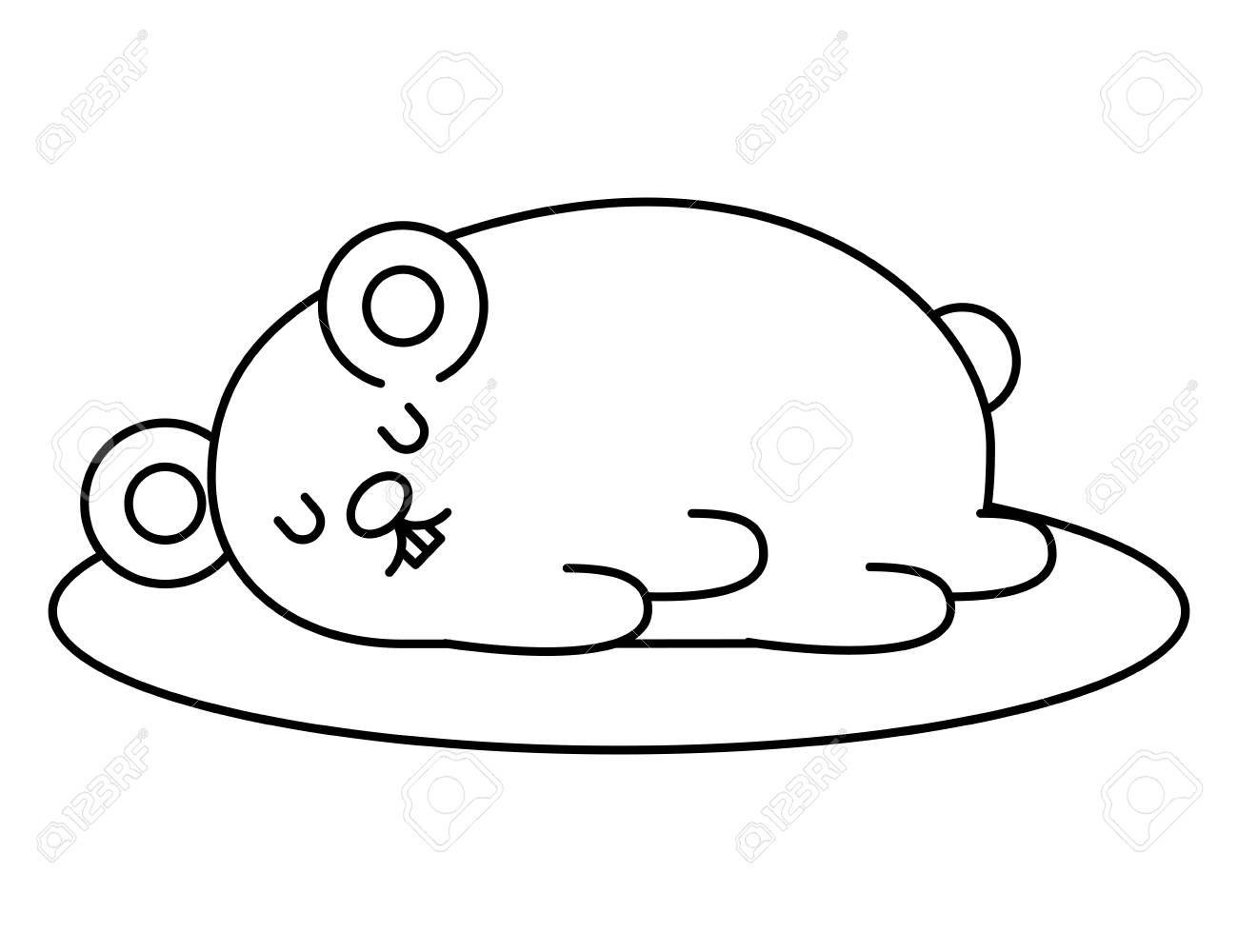 cute hamster sleeping kawaii character vector illustration design Illustration ,