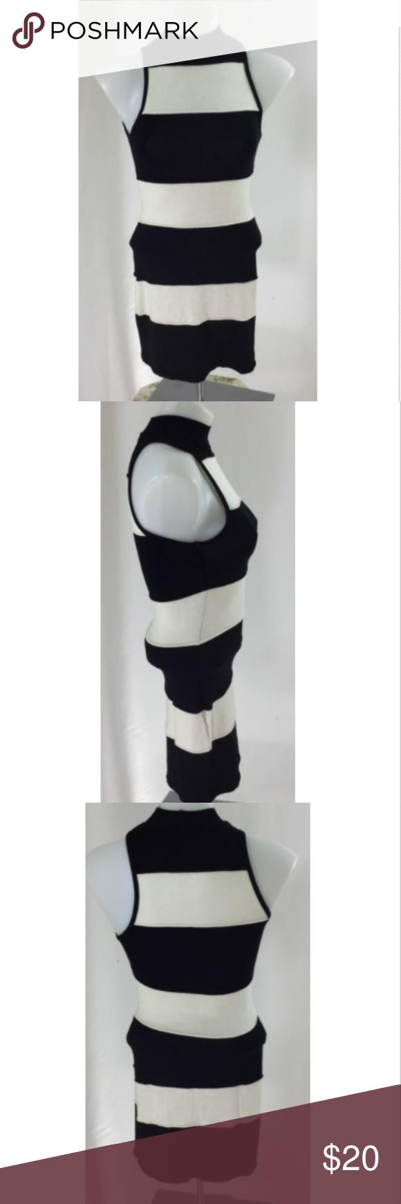 042b6f88c50 Nasty Gal Stripe Sweater Dress Sz Small Nasty Gal Dress Mock Turtleneck  Sweater Sz S Black