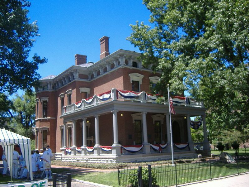Benjamin Harrison's home in Indianapolis, Indiana ...  Benjamin Harrison House