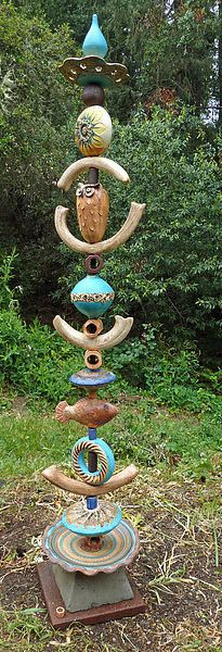 GARDEN TOTEMS - Occidental Pottery and Wood