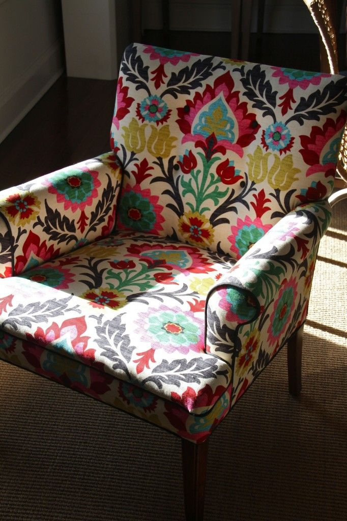 Chairs Fabric Waverly | AFTER: Santa Maria Fabric By Waverly Was An  Affordable Option. The .