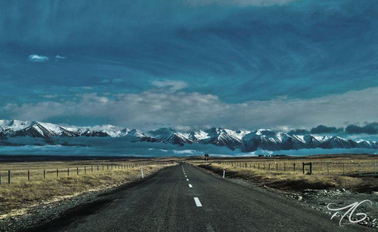 Fonds d'écran Voyages : Océanie > Fonds d'écran Nouvelle Zélande On the road again par partyonolympus - Hebus.com
