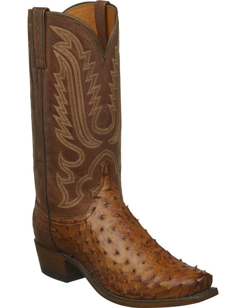 bb5946be762 Lucchese Men's Handmade Luke Full Quill Ostrich Western Boots - Snip ...