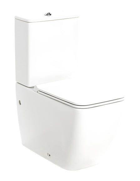 Inodoro slim con caída amortiguada fabricado en urea de color blanco a suelo. Doble descarga de 3 y 6 litros y salida de agua dual. Medidas: 35.5 cm x 77.5 cm x 64 cm...