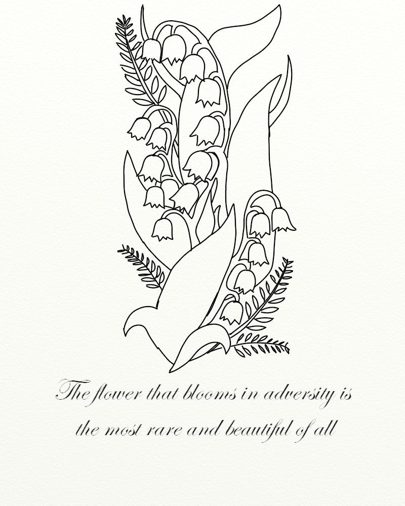 Lily of the valley tattoo by jadedruid on deviantart tattoos