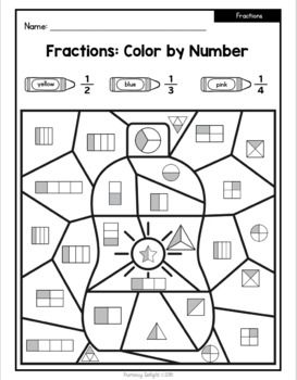 Summer Math: Color by Number {Addition, Subtraction, Place