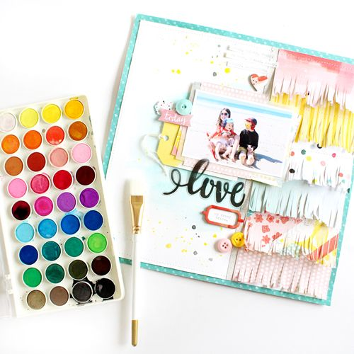 From fringe to watercolors, create a playful background for a playful photo!