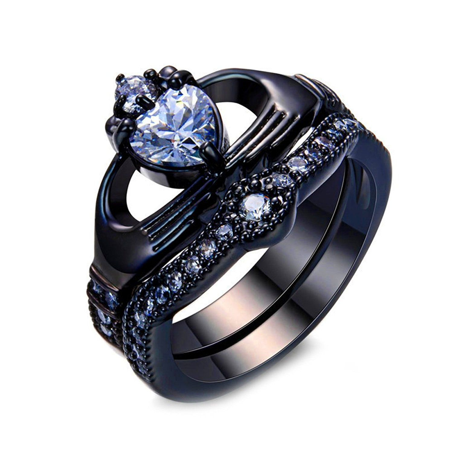Wedding Website Url Ideas: FandF Ring White Heart Zircon Ring Sets Vintage Jewelry