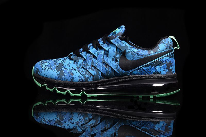low priced 7c028 31490 Nike Air Max 2017 Fingertrap Blue Running Men Shoes