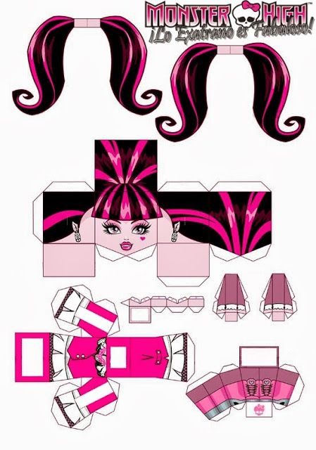 monster high 3d draculaura free printable