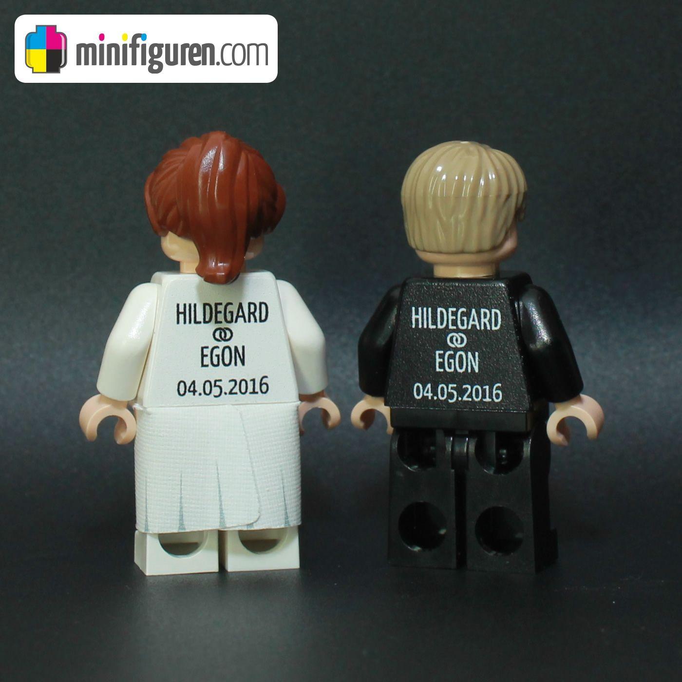 LEGO Custom Minifiguren personalisiertes Brautpaar Braut Brutigam Hochzeitspaar Wedding