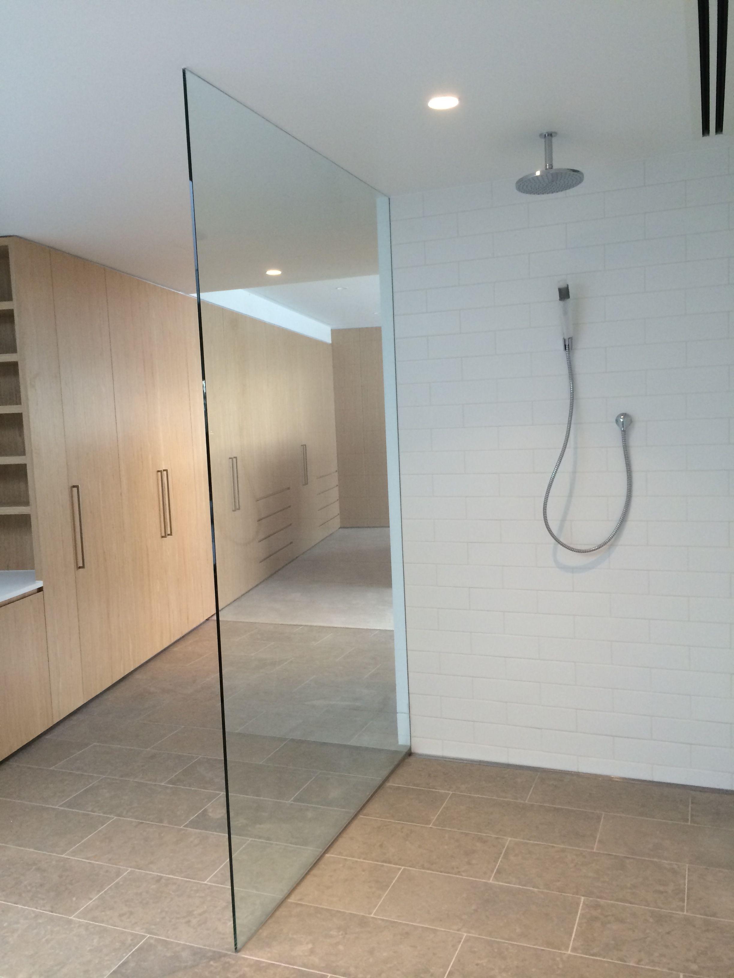 Beau Single Panel Floor To Ceiling Frameless Shower Screen