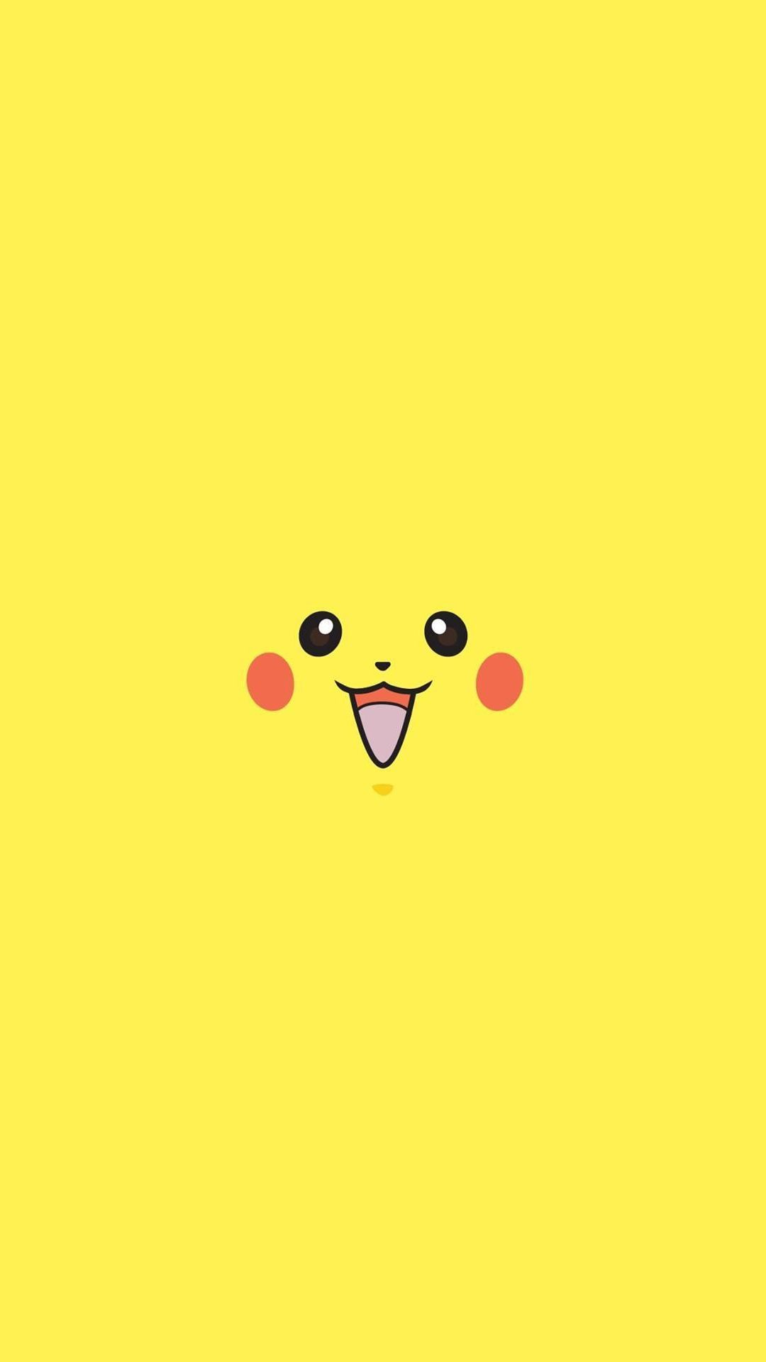 Pikachu Pokemon Minimal Flat iPhone 6 plus wallpaper
