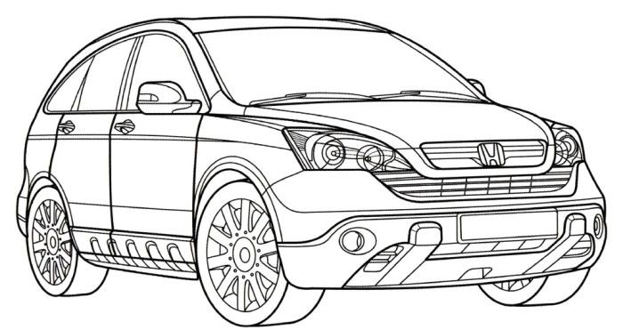Honda Cr V Coloring Page Truck Coloring Pages Cars Coloring