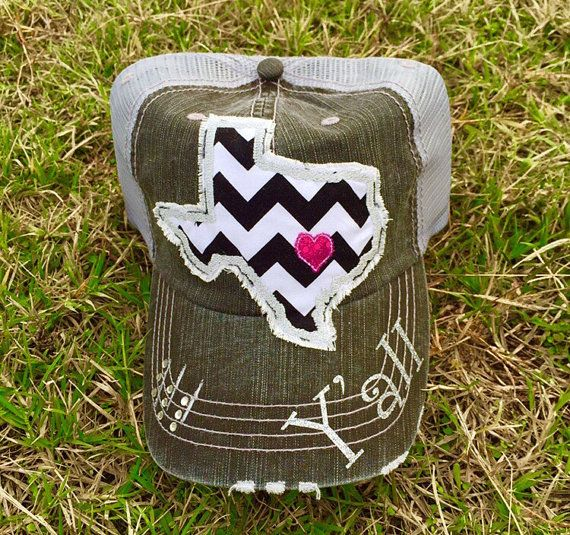 5034dfecb State of Texas Y'all Baseball Bling Ladies Womens Trucker Hat by Chasing  Elly on Etsy