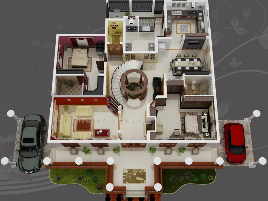 Pin By Maria On 3d House Plans Floor Plans Home Building Design House Layouts 3d House Plans
