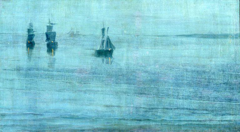 Джеймс Уистлер — Ноктюрн: Le Solent «Le Solent» — название корабля, на котором Уистлер в 1886 году возвращался из Ю…   James abbott mcneill whistler, Art, Painting