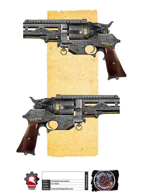 Steampunk Revolver Concept by kristhaler