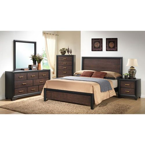 Emerald Home Furnishings Prelude Queen Panel Bed Kit B588