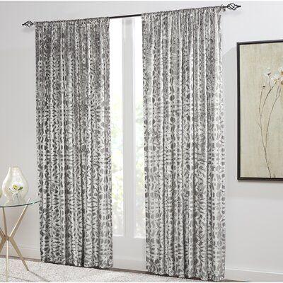 Sure Fit Cervella Velvety Room Darkening Rod Pocket Curtain Panels