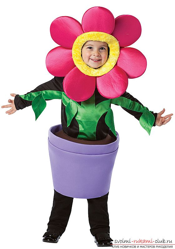 поздравление в костюме цветка чуть позже
