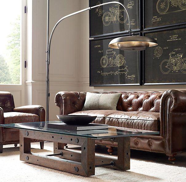 Chesterfield + Technik Living Pinterest Wohnzimmer - retro mobel wohnzimmer