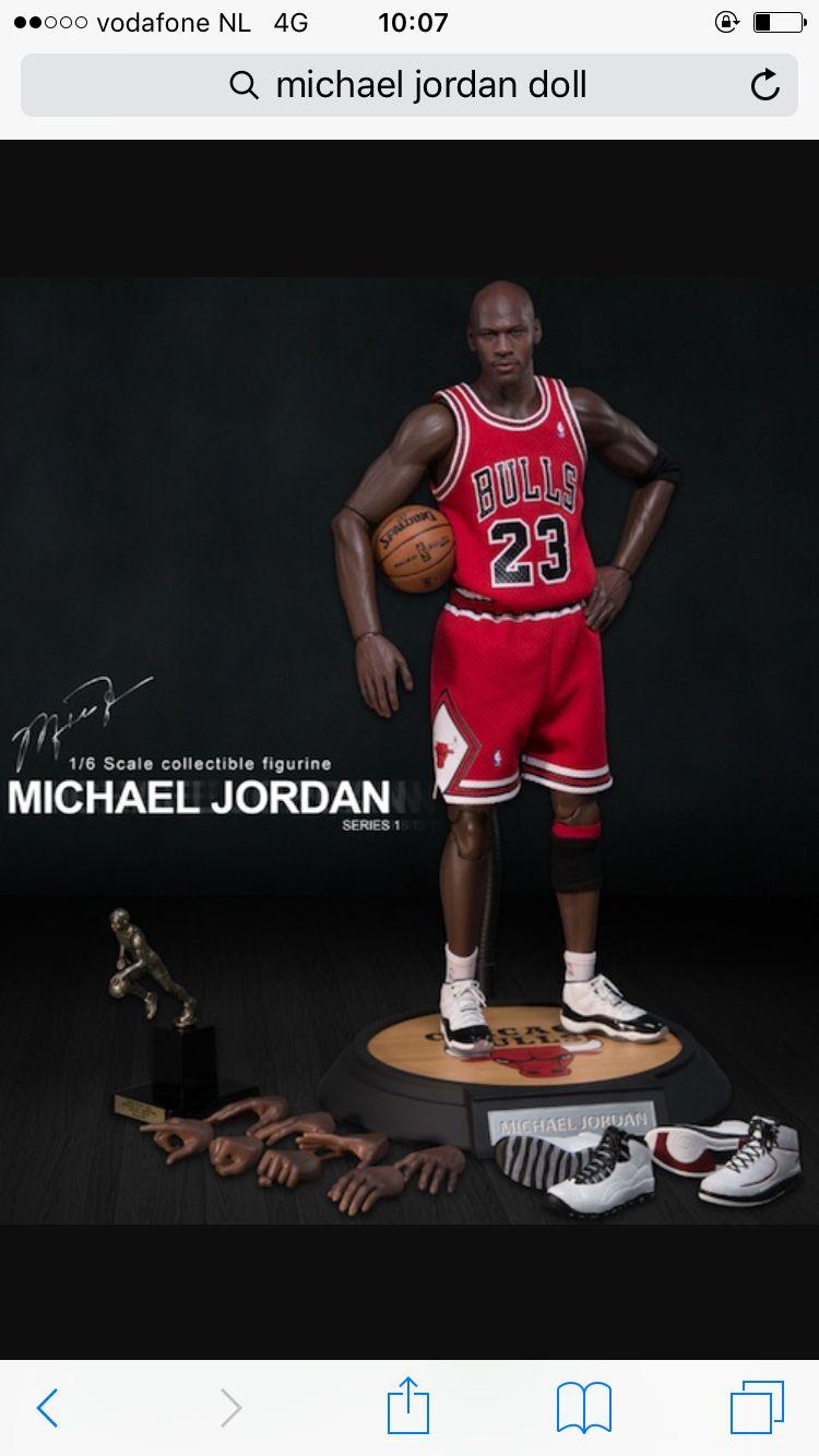Enterbay nba michael jordan bulls 23 red 16 real