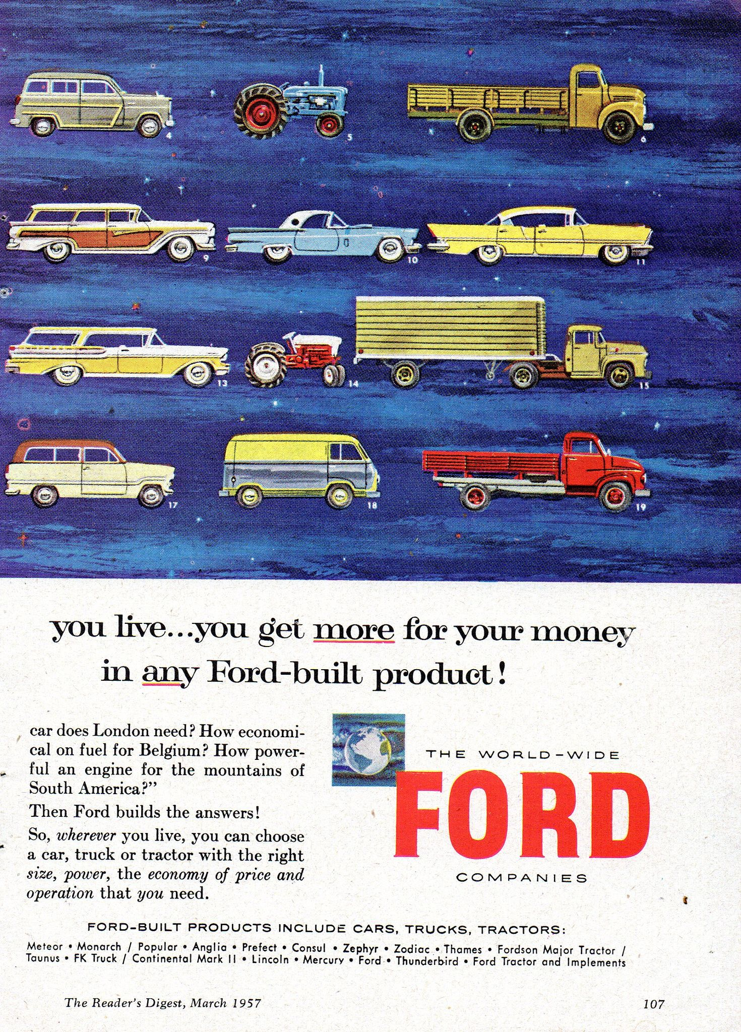 1957 World Wide Ford Companies Cars Trucks Tractors Page 2 Aussie
